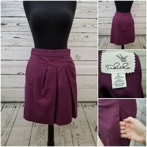 Anthropologie plum skirt with pockets